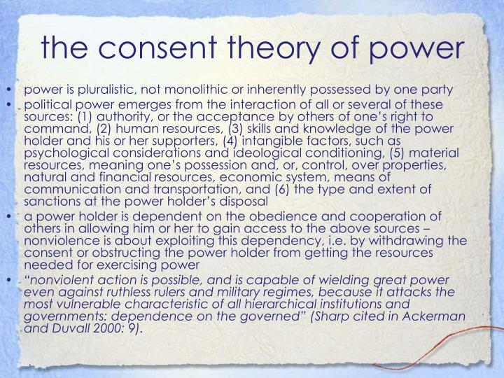 the consent theory of power