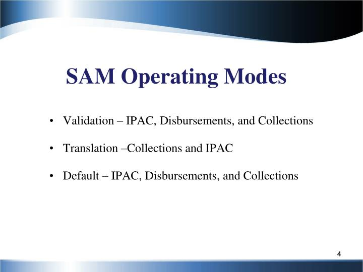 SAM Operating Modes
