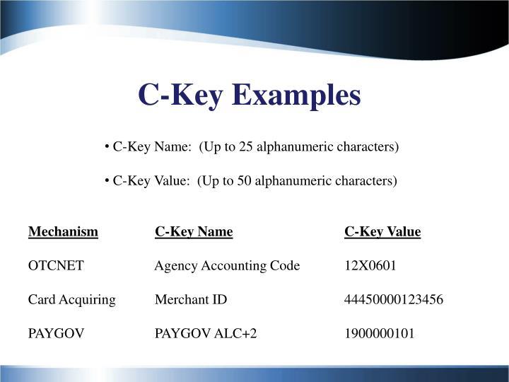 C-Key Examples