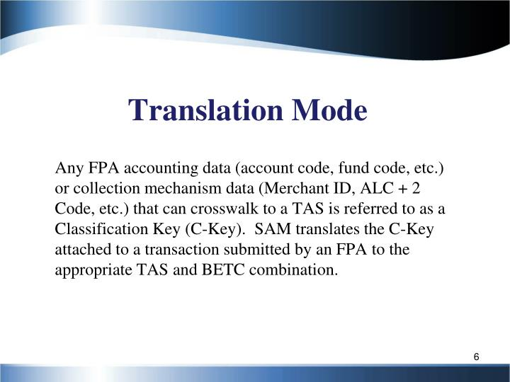 Translation Mode