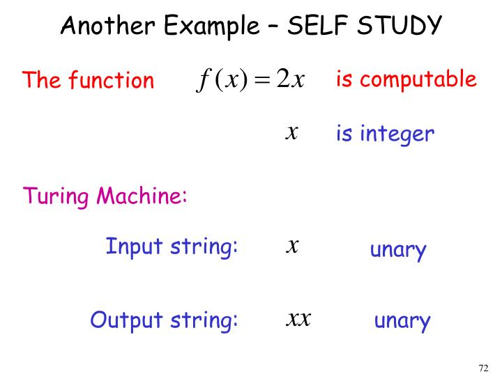 Another Example – SELF STUDY