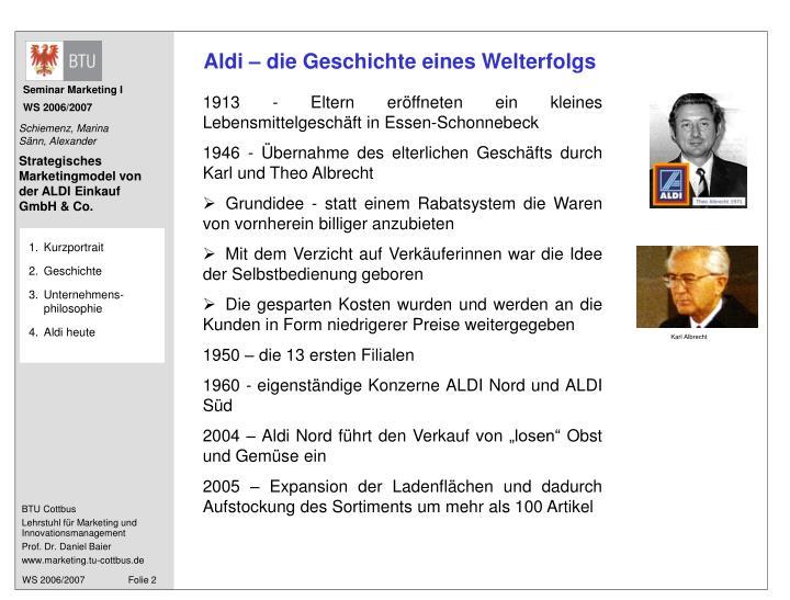 Aldi – die Geschichte eines Welterfolgs