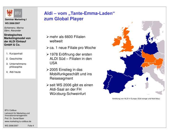 """Aldi – vom """"Tante-Emma-Laden"""""""