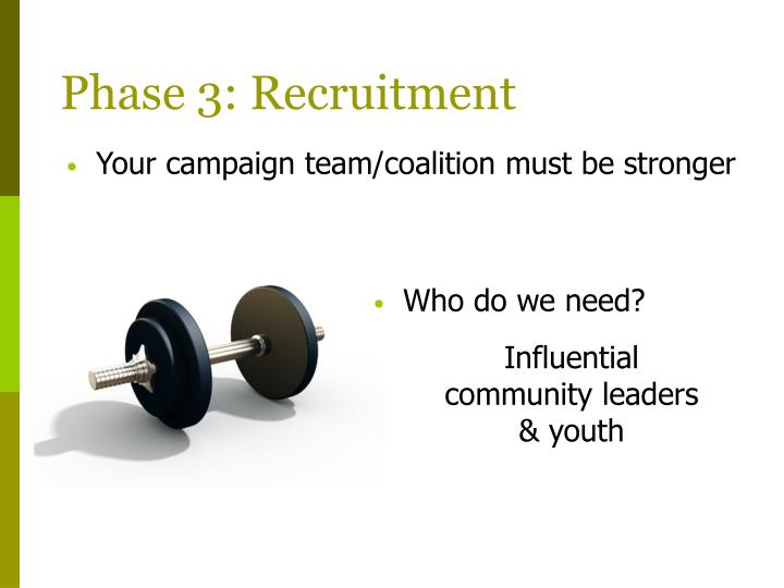 Phase 3: Recruitment