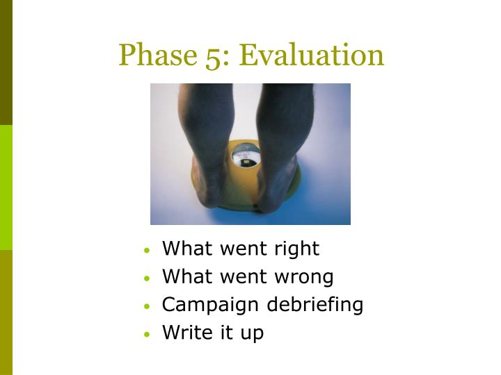 Phase 5: Evaluation