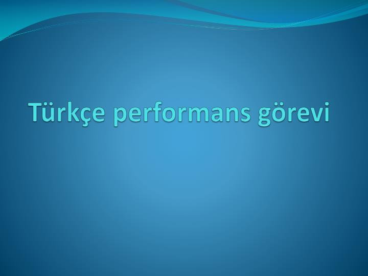 T rk e performans g revi