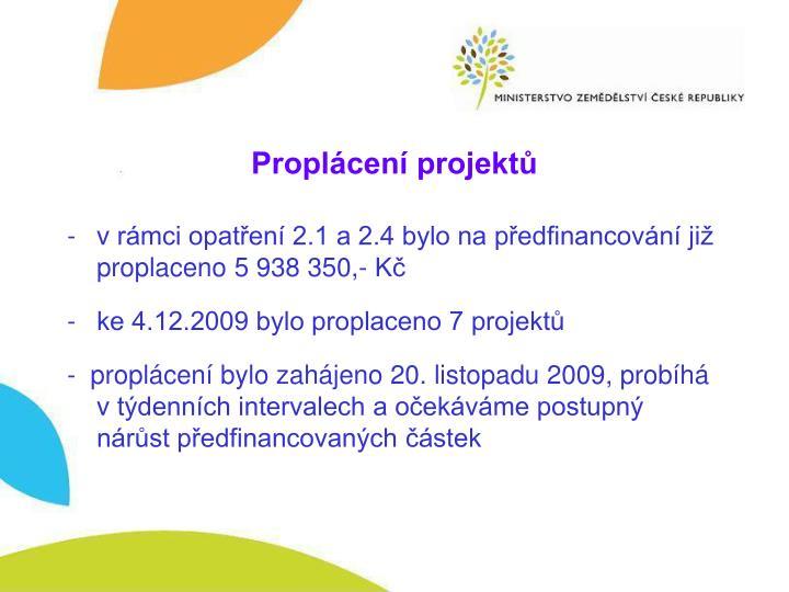 Proplácení projektů
