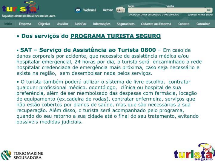Dos serviços do