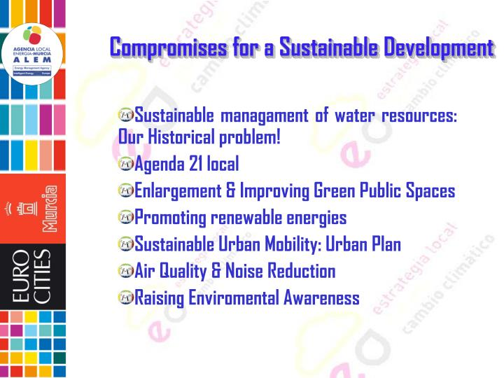 Compromises for a Sustainable Development