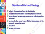 objectives of the local strategy