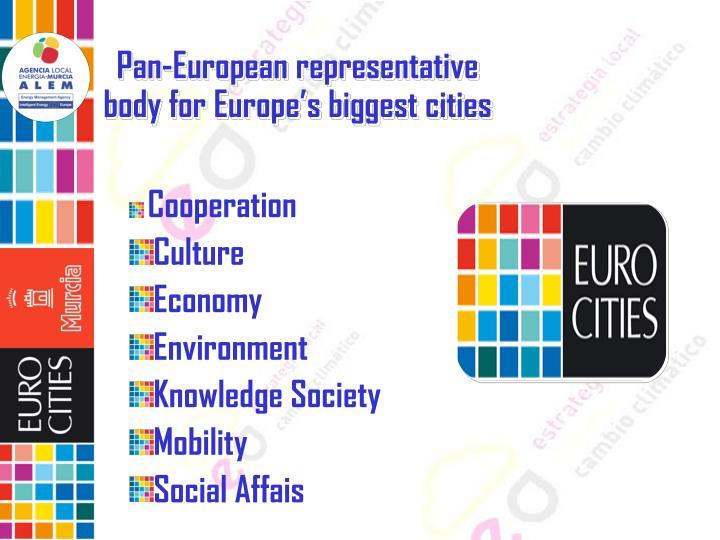 Pan-European representative body for Europe's biggest cities