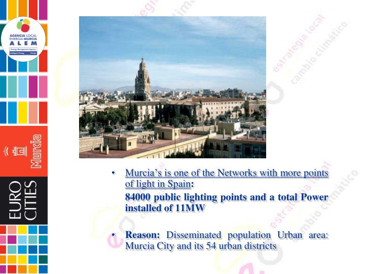 Murcia's is one of the Networks with more points of light in Spain