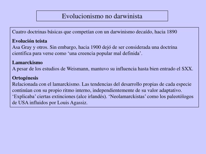Evolucionismo no darwinista