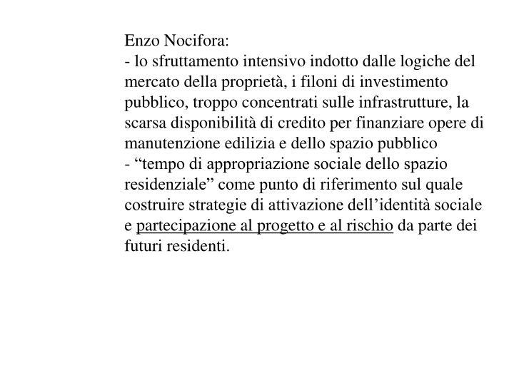 Enzo Nocifora: