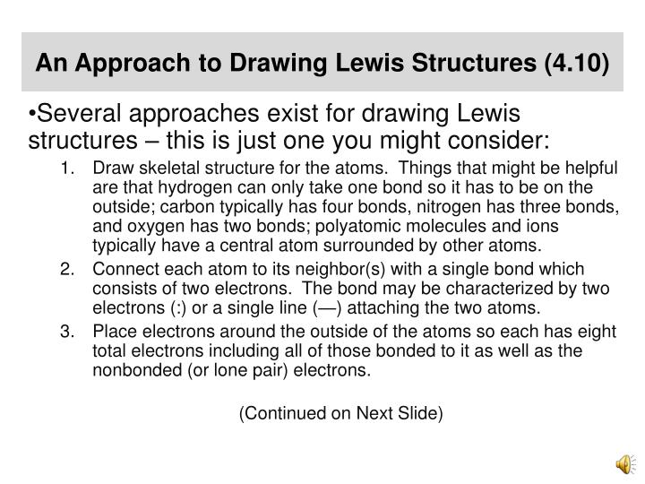An Approach to Drawing Lewis Structures (4.10)