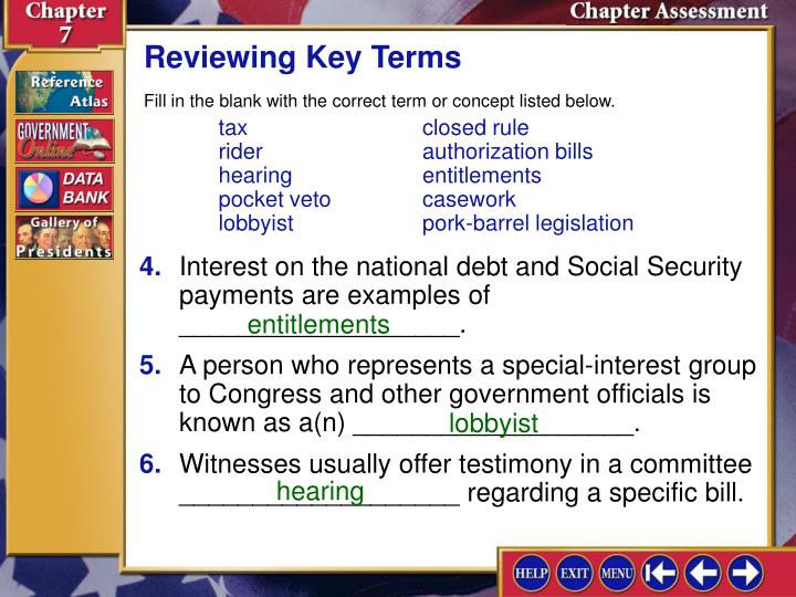 Reviewing Key Terms