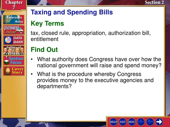 Taxing and Spending Bills