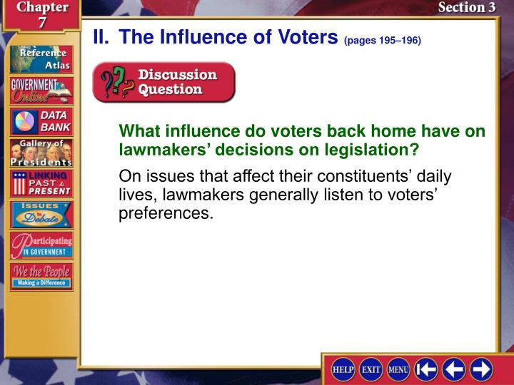 II.The Influence of Voters
