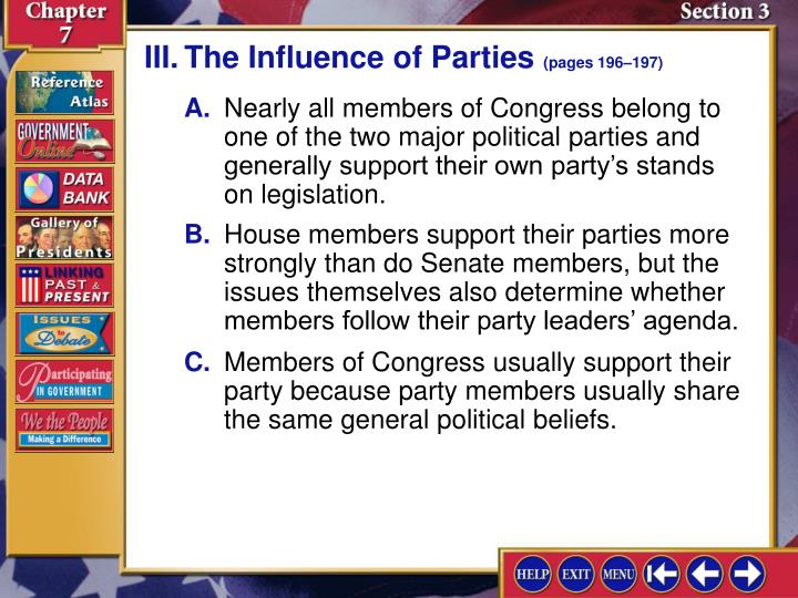 III.The Influence of Parties