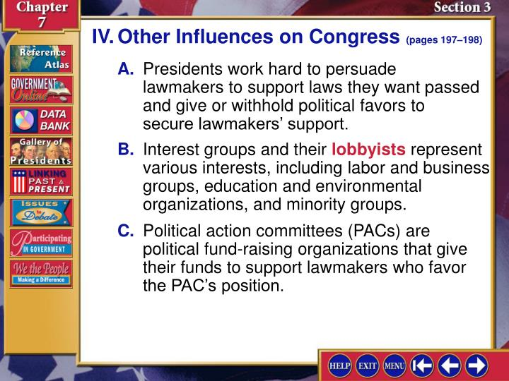 IV.Other Influences on Congress