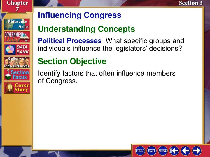Influencing Congress