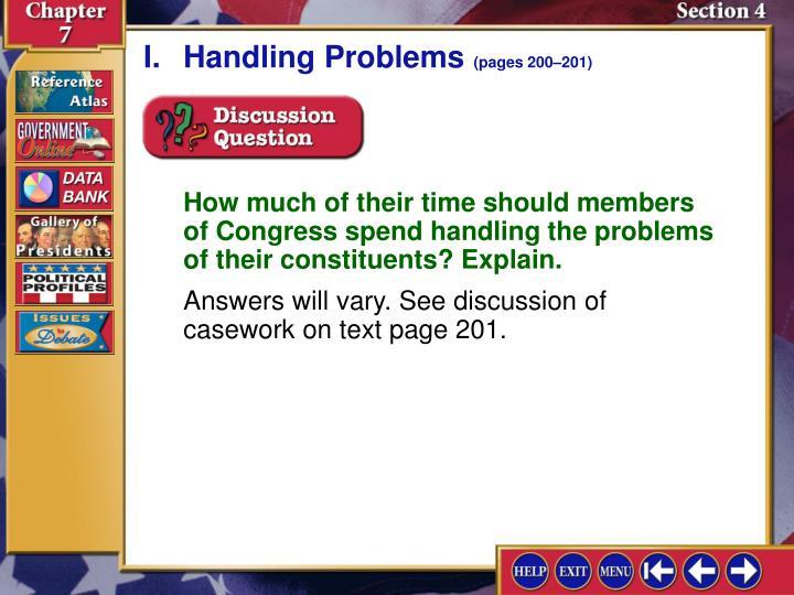 I.Handling Problems