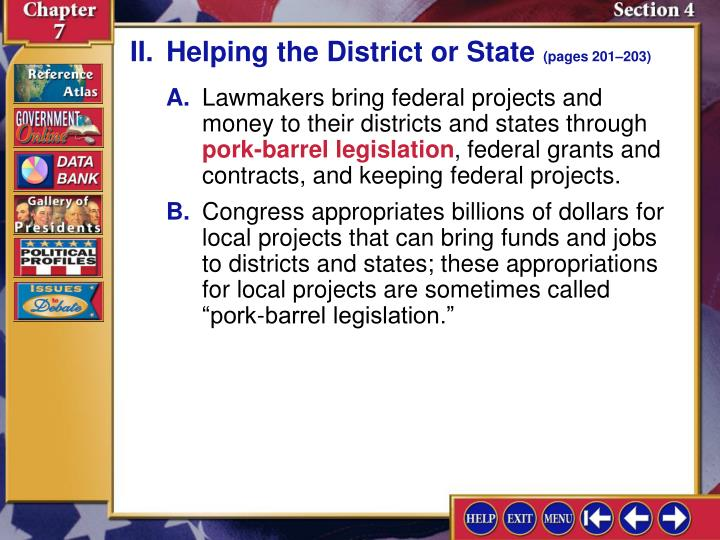 II.Helping the District or State