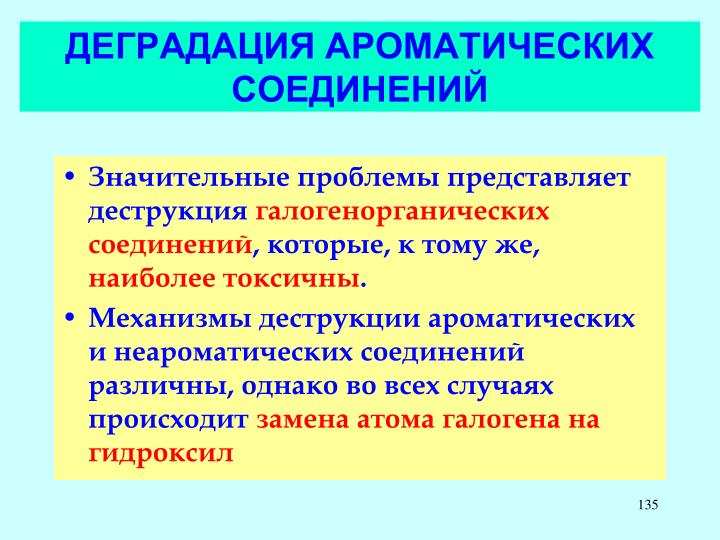 ДЕГРАДАЦИЯ АРОМАТИЧЕСКИХ СОЕДИНЕНИЙ