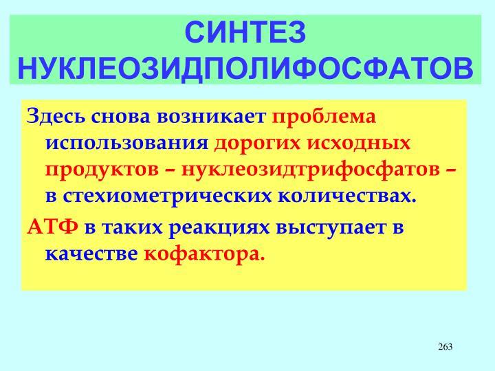 СИНТЕЗ НУКЛЕОЗИДПОЛИФОСФАТОВ