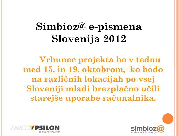 Simbioz@ e-pismena Slovenija 2012