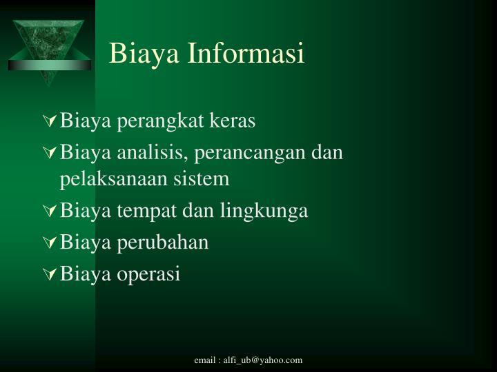 Biaya Informasi