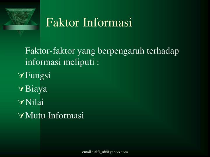 Faktor Informasi