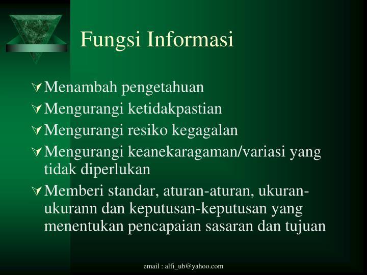 Fungsi Informasi
