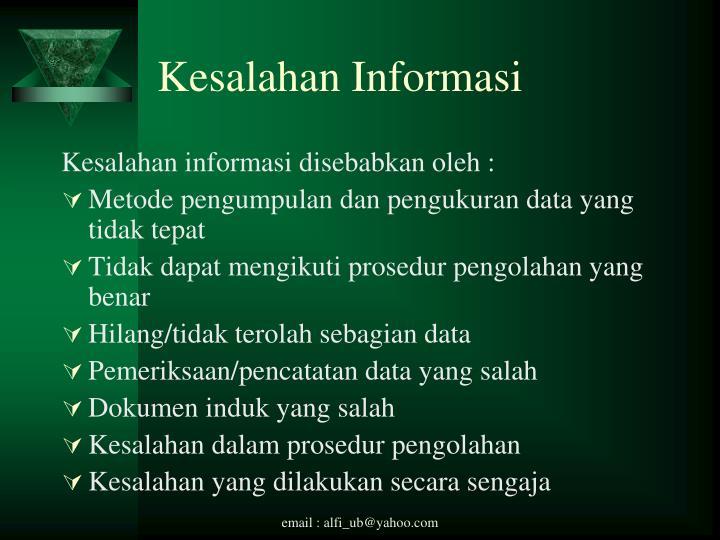 Kesalahan Informasi