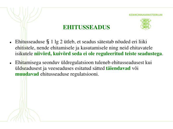 EHITUSSEADUS