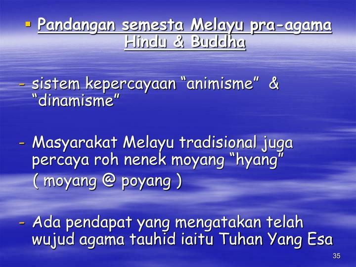 Pandangan semesta Melayu pra-agama Hindu & Buddha
