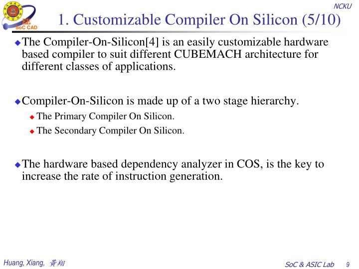 1. Customizable Compiler On Silicon (5/10)