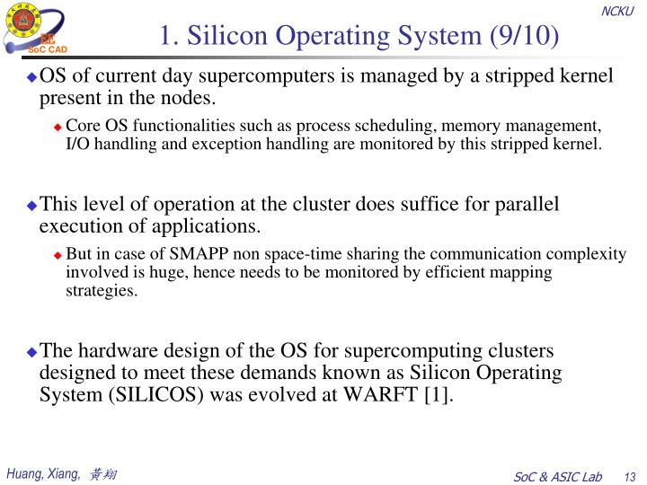 1. Silicon Operating System (9/10)