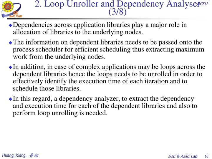 2. Loop Unroller and Dependency Analyser (3/8)