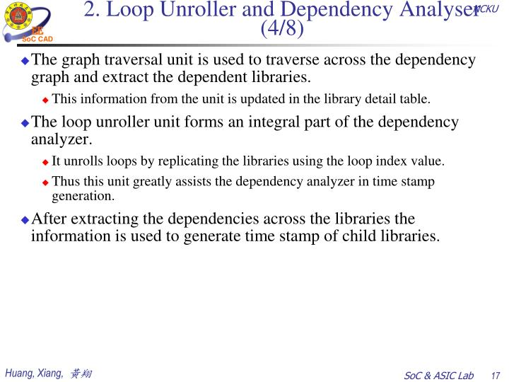 2. Loop Unroller and Dependency Analyser (4/8)