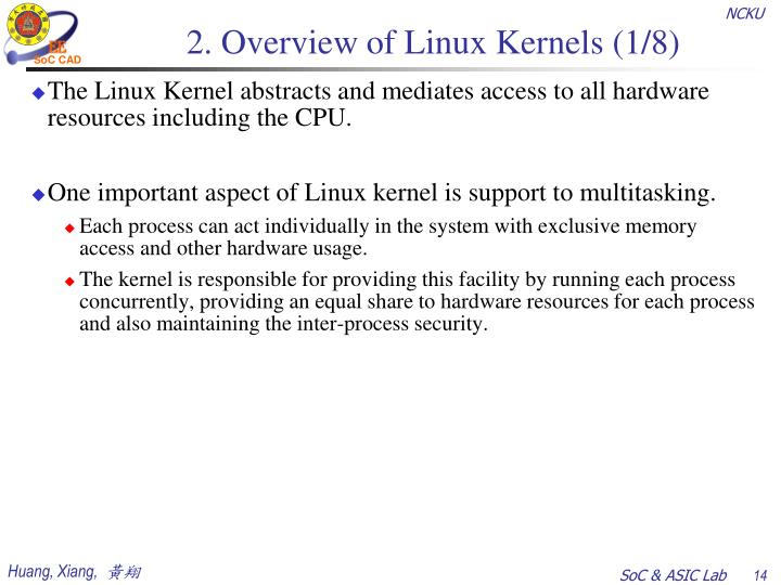2. Overview of Linux Kernels (1/8)