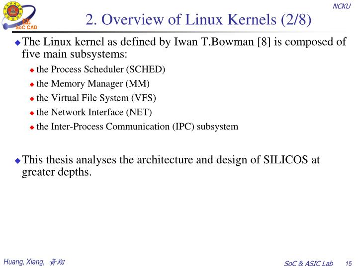 2. Overview of Linux Kernels (2/8)