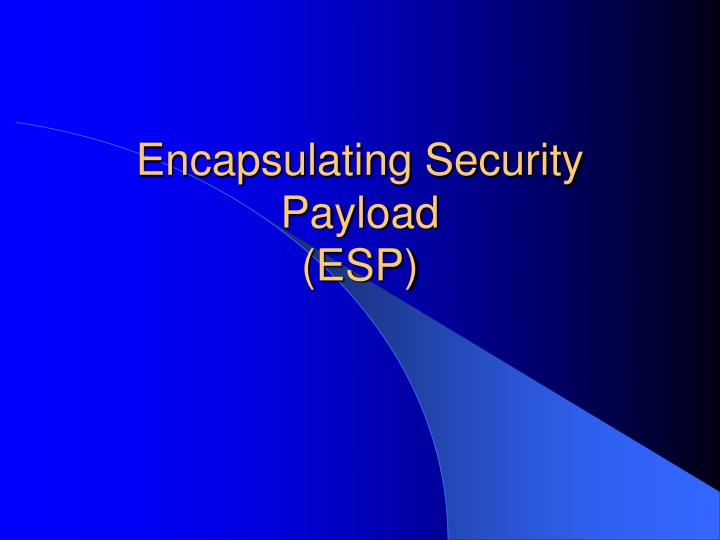 Encapsulating Security Payload