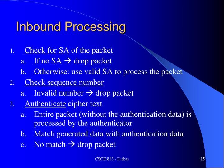 Inbound Processing
