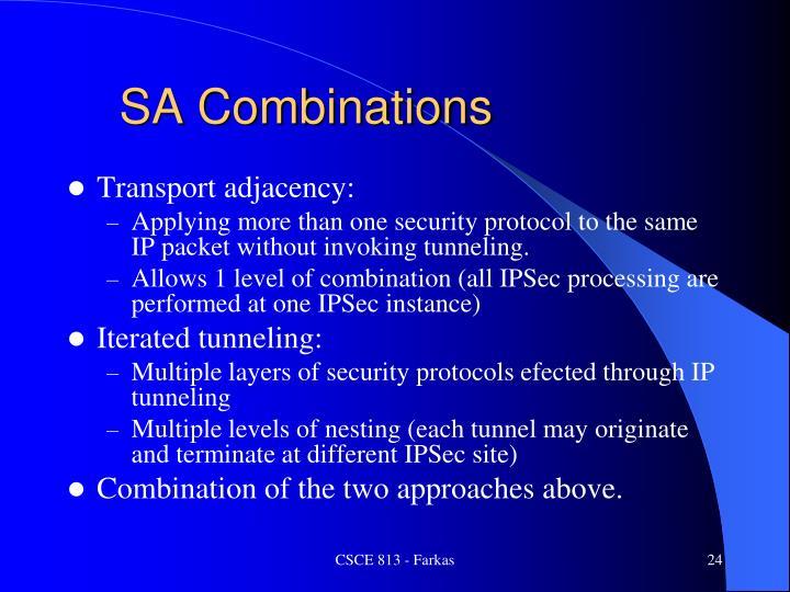 SA Combinations