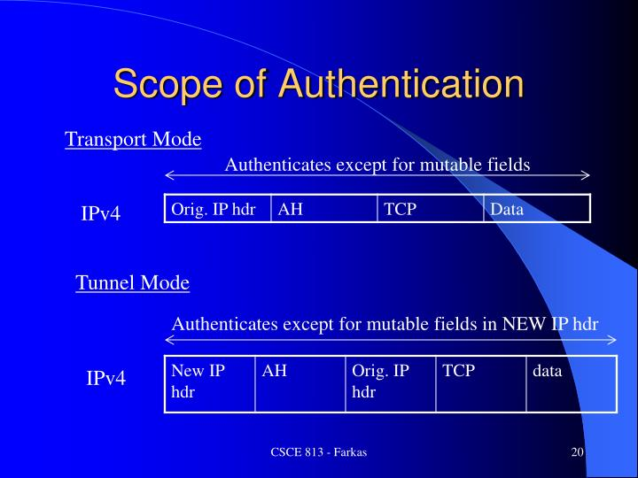 Scope of Authentication