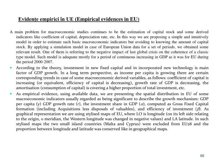 Evidențe empirici în UE (