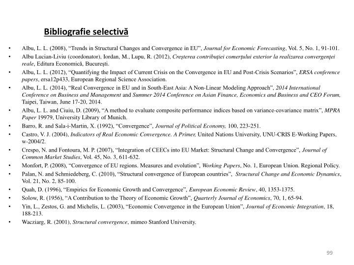 Bibliografie selectivă