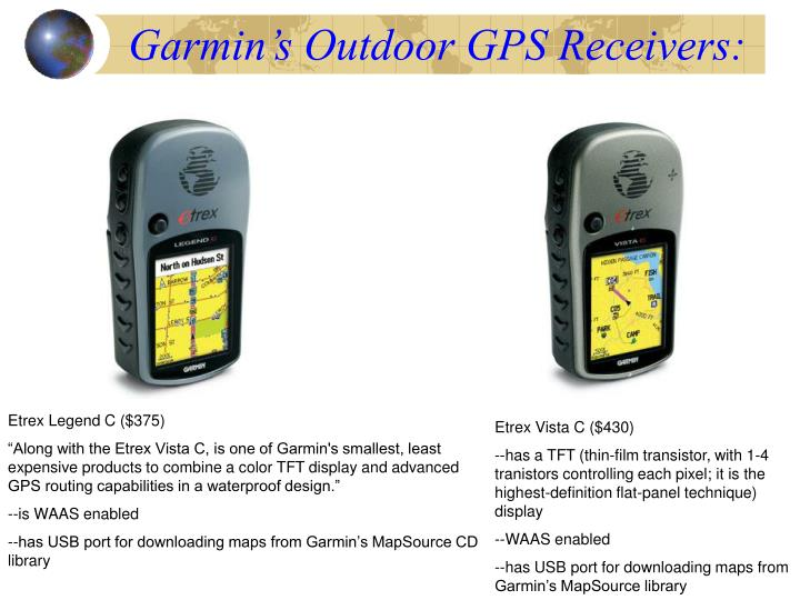 Garmin's Outdoor GPS Receivers:
