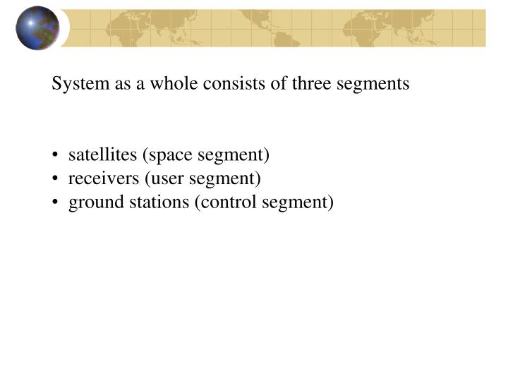 System as a whole consists of three segments